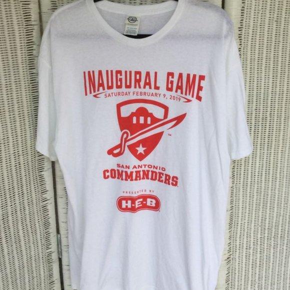 San Antonio Commanders Inaugural Game T-shirt